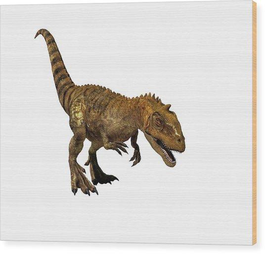 Majungasaurus Dinosaur Wood Print by Mikkel Juul Jensen