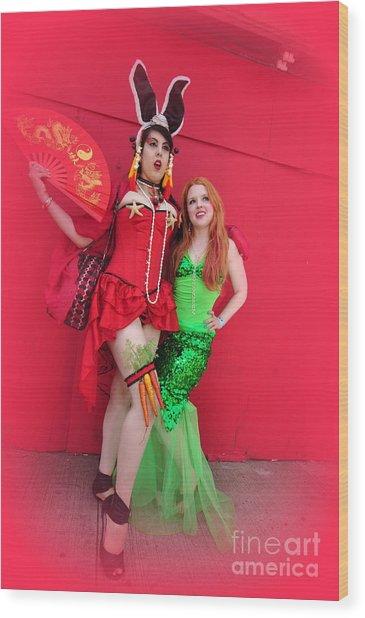 Mermaid Parade 2011 Wood Print