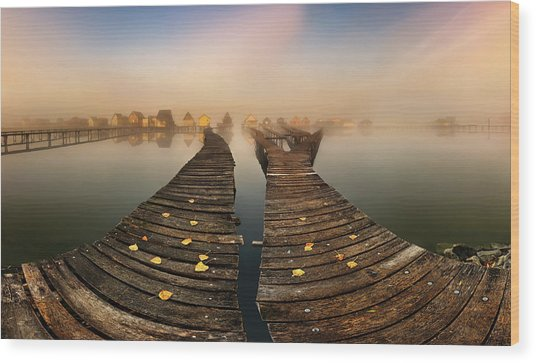 Mist... Wood Print