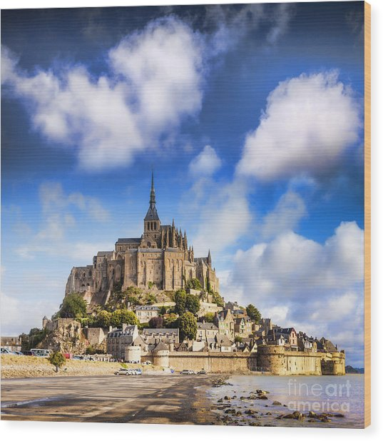 Mont St Michel Normandy France Wood Print