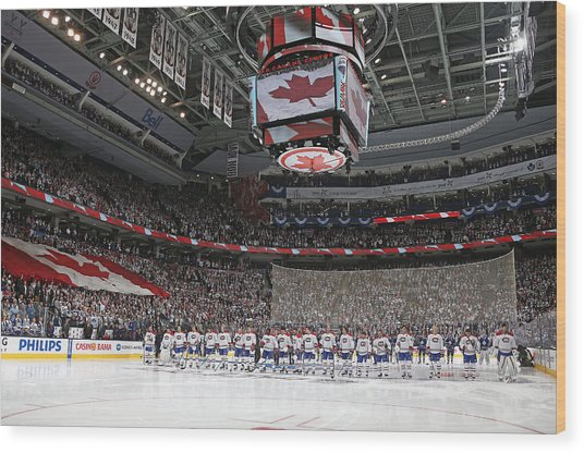 Montreal Canadiens V Toronto Maple Leafs Wood Print by Claus Andersen