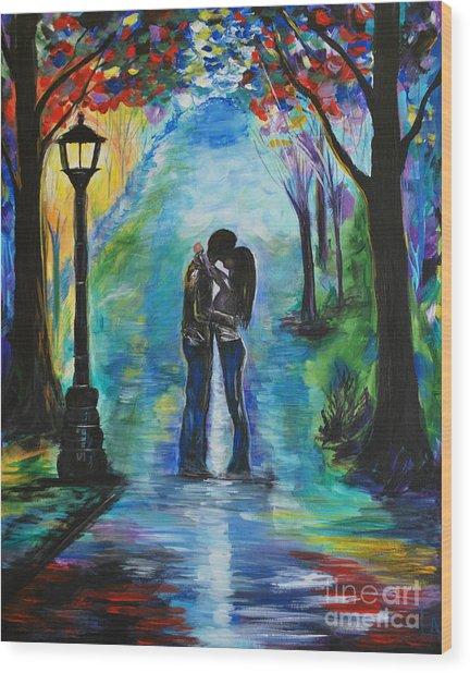 Moonlight Kiss Wood Print