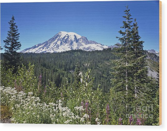 Mount Ranier Wood Print