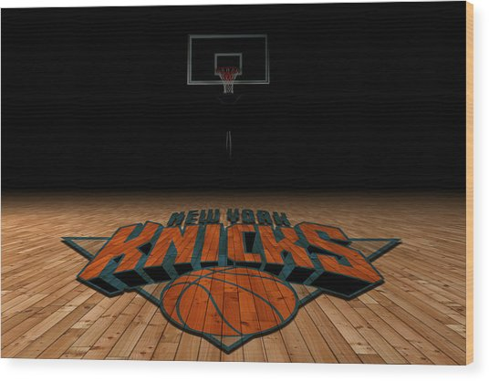New York Knicks Wood Print