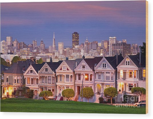 Wood Print featuring the photograph Painted Ladies by Brian Jannsen