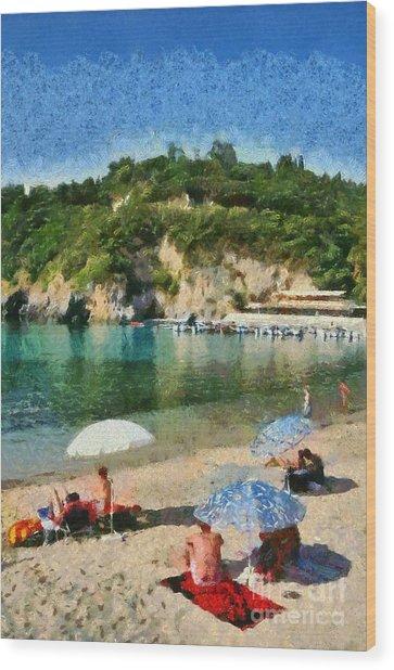 Paleokastritsa Beach Wood Print