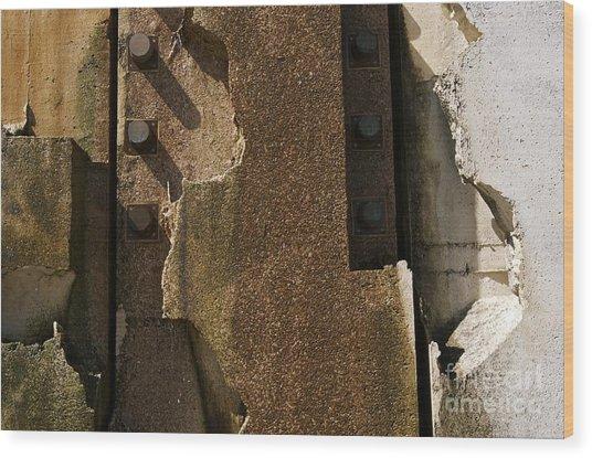 3 Peg Abstract II Wood Print