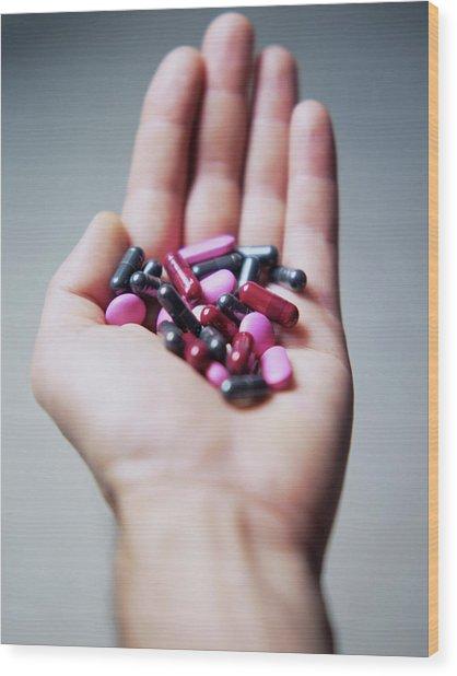 Pills Wood Print by Cristina Pedrazzini/science Photo Library