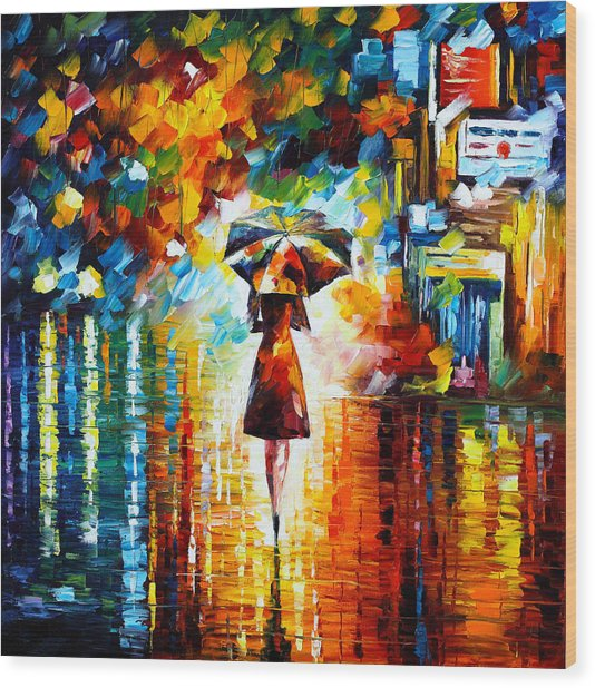 Rain Princess Wood Print