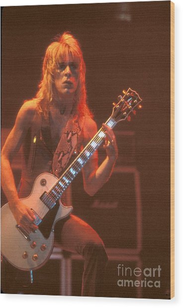 Blizzard Of Ozz - Randy Rhoads Wood Print