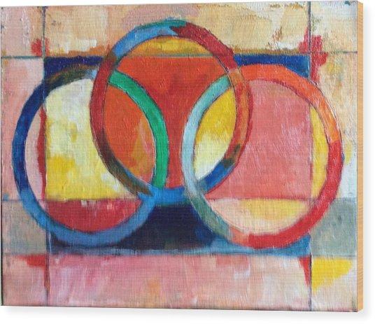 3 Rings II Wood Print by Mark Opdahl