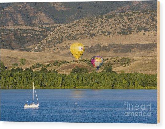 Rocky Mountain Balloon Festival Wood Print