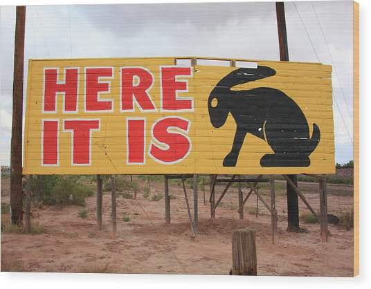 Route 66 - Jack Rabbit Trading Post Wood Print