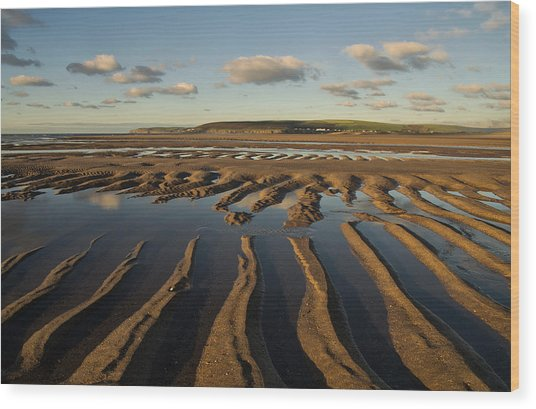 Saunton Sands Devon Wood Print