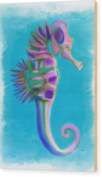 The Pretty Seahorse Wood Print