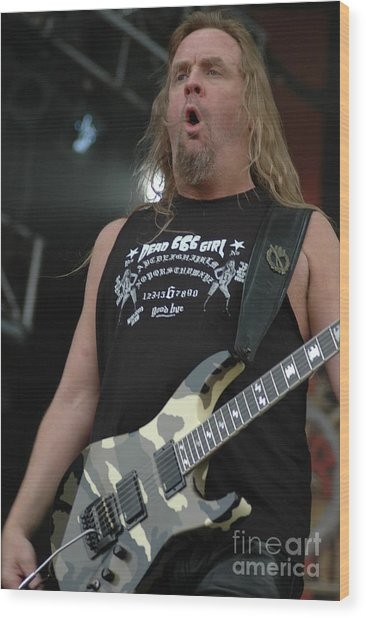Slayer Jeff Hanneman Wood Print