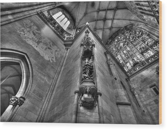 St Vitus Cathedral Prague Wood Print