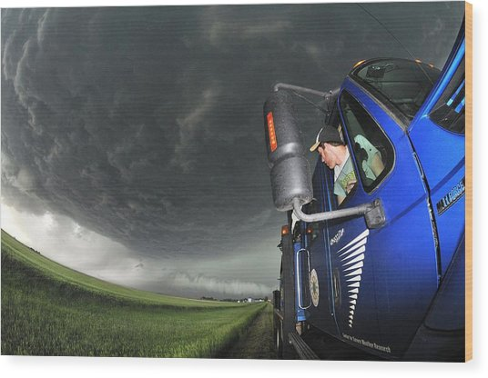 Storm Chasing, Nebraska, Usa Wood Print by Science Photo Library