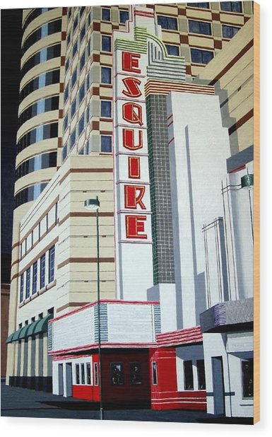 The Esquire Wood Print