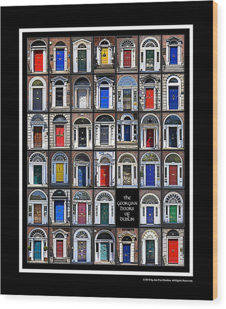 The Georgian Doors Of Dublin Wood Print