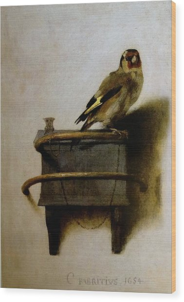 The Goldfinch Wood Print