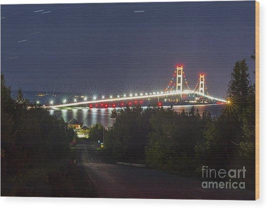 The Mackinac Bridge Wood Print