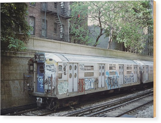 The Subway In The 70s Wood Print