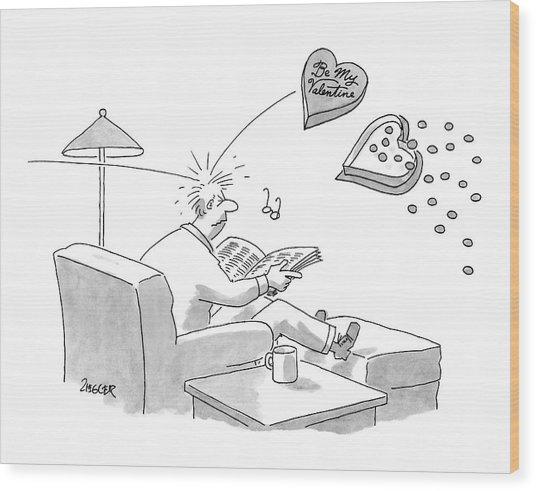 New Yorker February 11th, 2008 Wood Print
