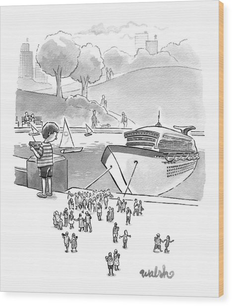 New Yorker August 8th, 2016 Wood Print