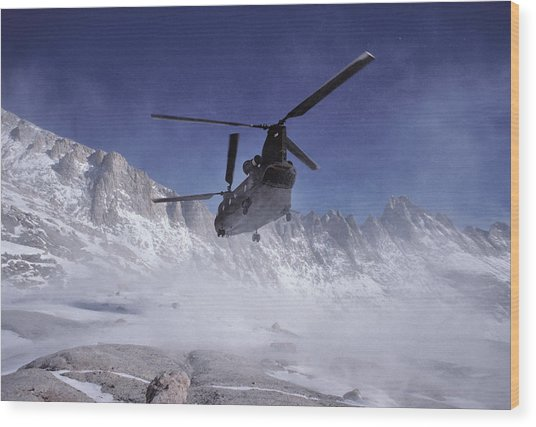 Usa, California, Chinook Search Wood Print by Gerry Reynolds