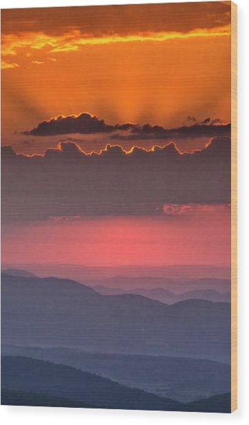 Usa, West Virginia, Davis Wood Print