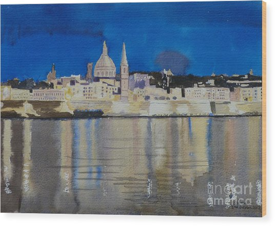 Valletta Malta Wood Print