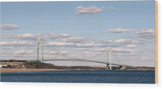 Verrazano Narrows Bridge Wood Print