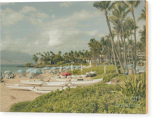 Wailea Beach Maui Hawaii Wood Print