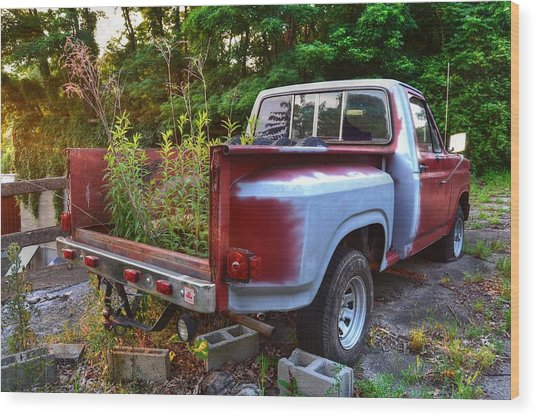 Weathered Truck Wood Print