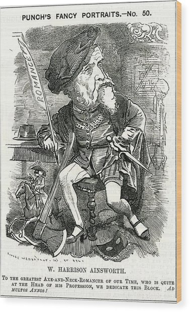 William Harrison Ainsworth  English Wood Print by Mary Evans Picture Library
