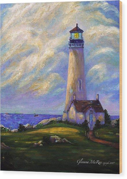 Yaquina Head Lighthouse Oregon Wood Print