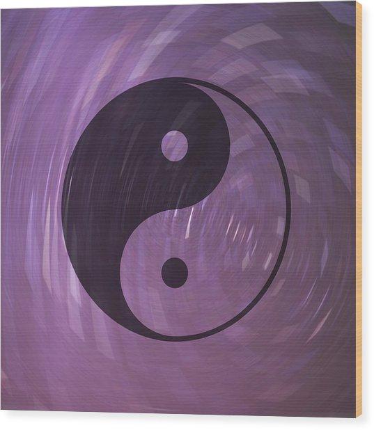 Yin And Yang Wood Print by Daryl Macintyre