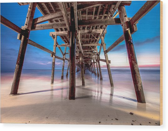 30 Seconds Under San Clemente Pier Wood Print