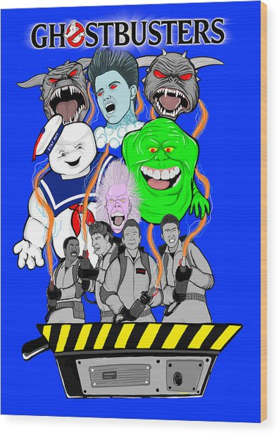 30 Years Of Ghostbusters Wood Print by Gary Niles
