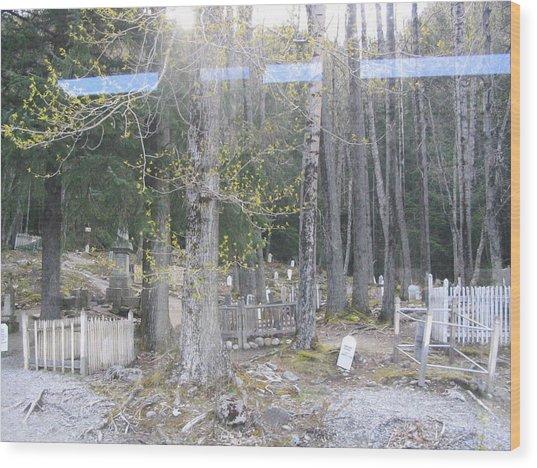 300yr Cemetery Wood Print