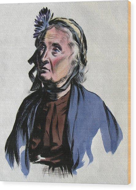 Aunt Edna Wood Print