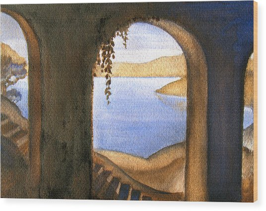 Parrish Blue Wood Print