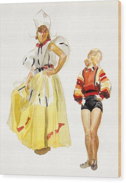 Swiss Miss Wood Print