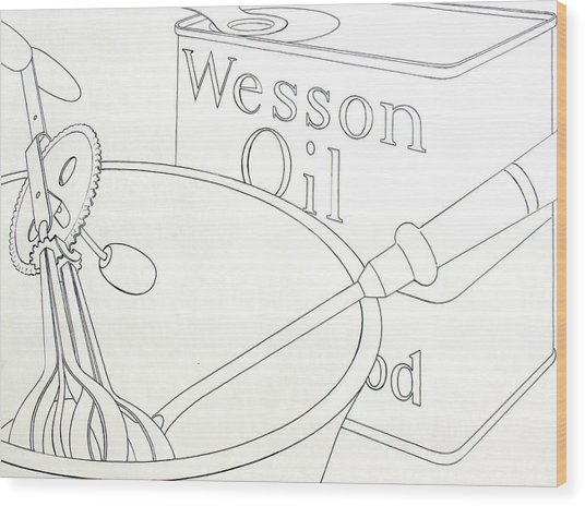 Wesson Oil Wood Print