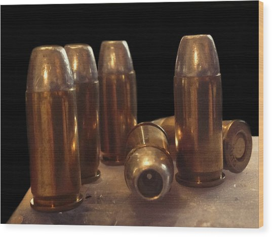 Bullet Art 32 Caliber Bullets 3514 Wood Print