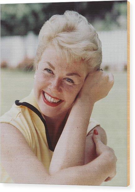 Doris Day Wood Print