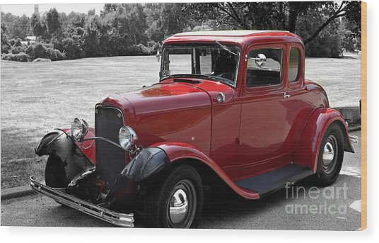 32 Ford Coupe Charmer Wood Print