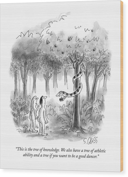 This Is The Tree Of Knowledge Wood Print