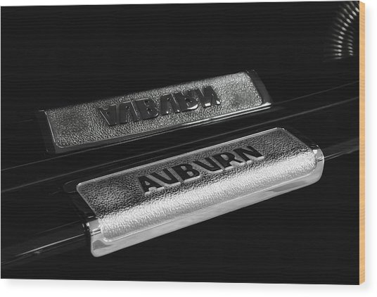 1935 Auburn Supercharged Step Plate Reflection Wood Print